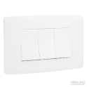 Low profile triple switch wall plate1