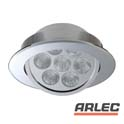 Dimmable ww led downlight kit - chrome (gimbal)