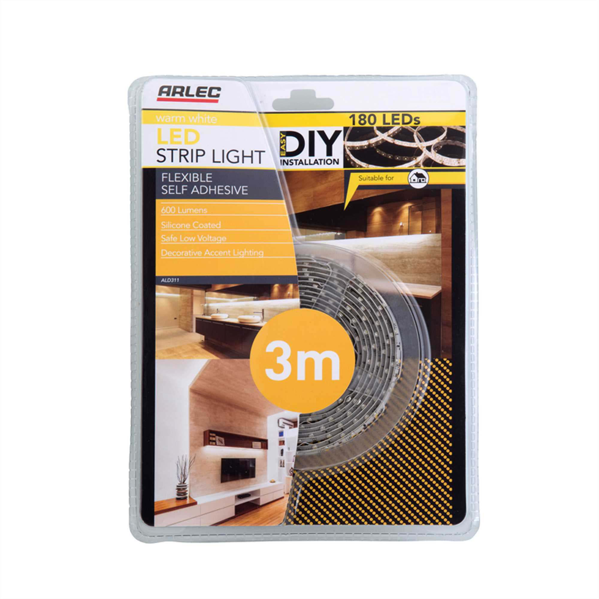 3m warm white silicone coated led strip light