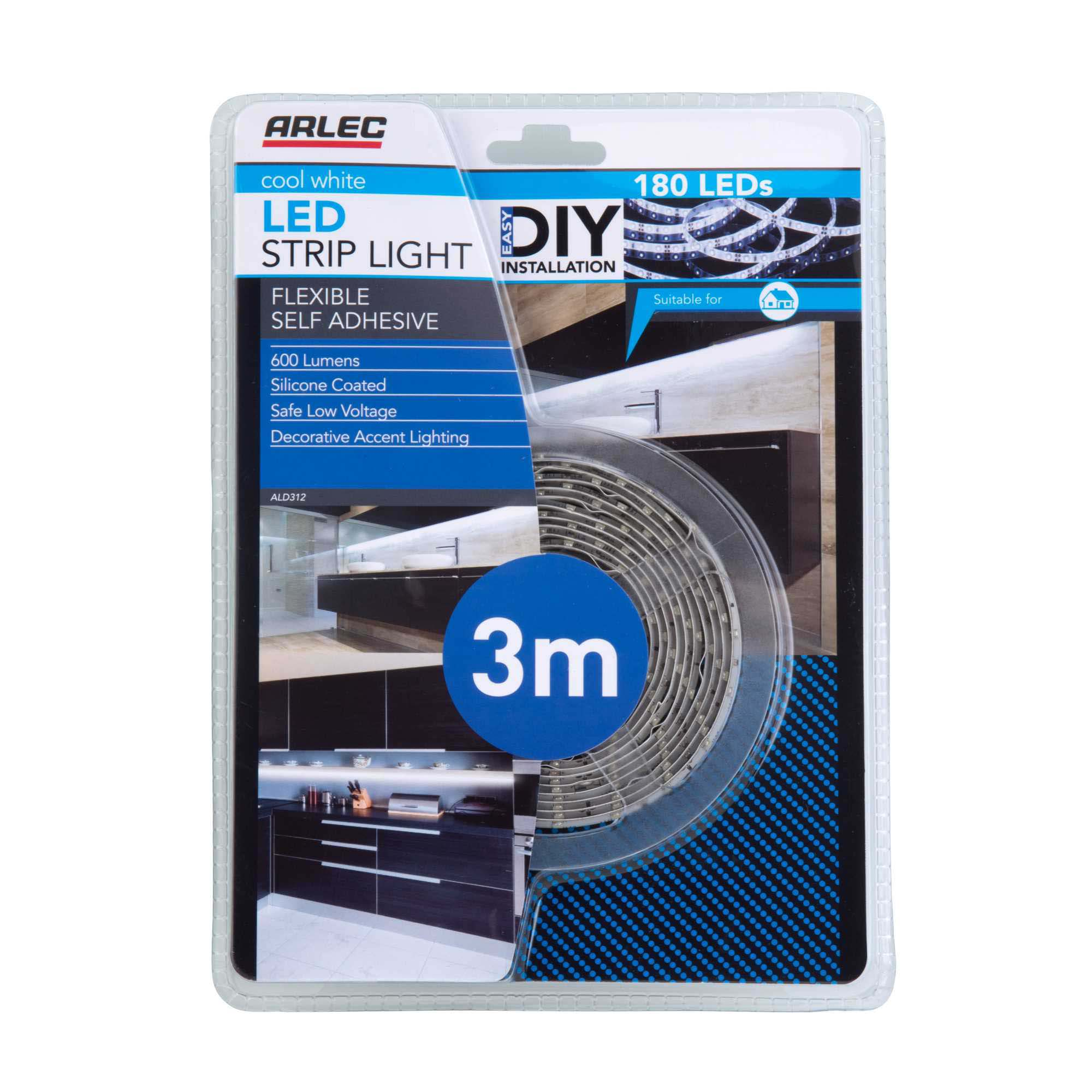 3m cool white silicone coated led strip light