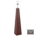 Cabel dark coloured wood pyramid lamp base