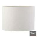 Dusk small cream linen drum shade