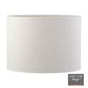 Dusk medium cream linen drum shade