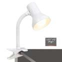 Ahura clamp lamp e27 40w white
