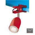 Led clamp lamp e14 3w gloss red