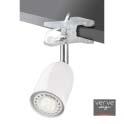 Led clamp lamp e14 3w gloss white