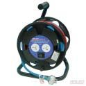 Twin socket extension cord reel