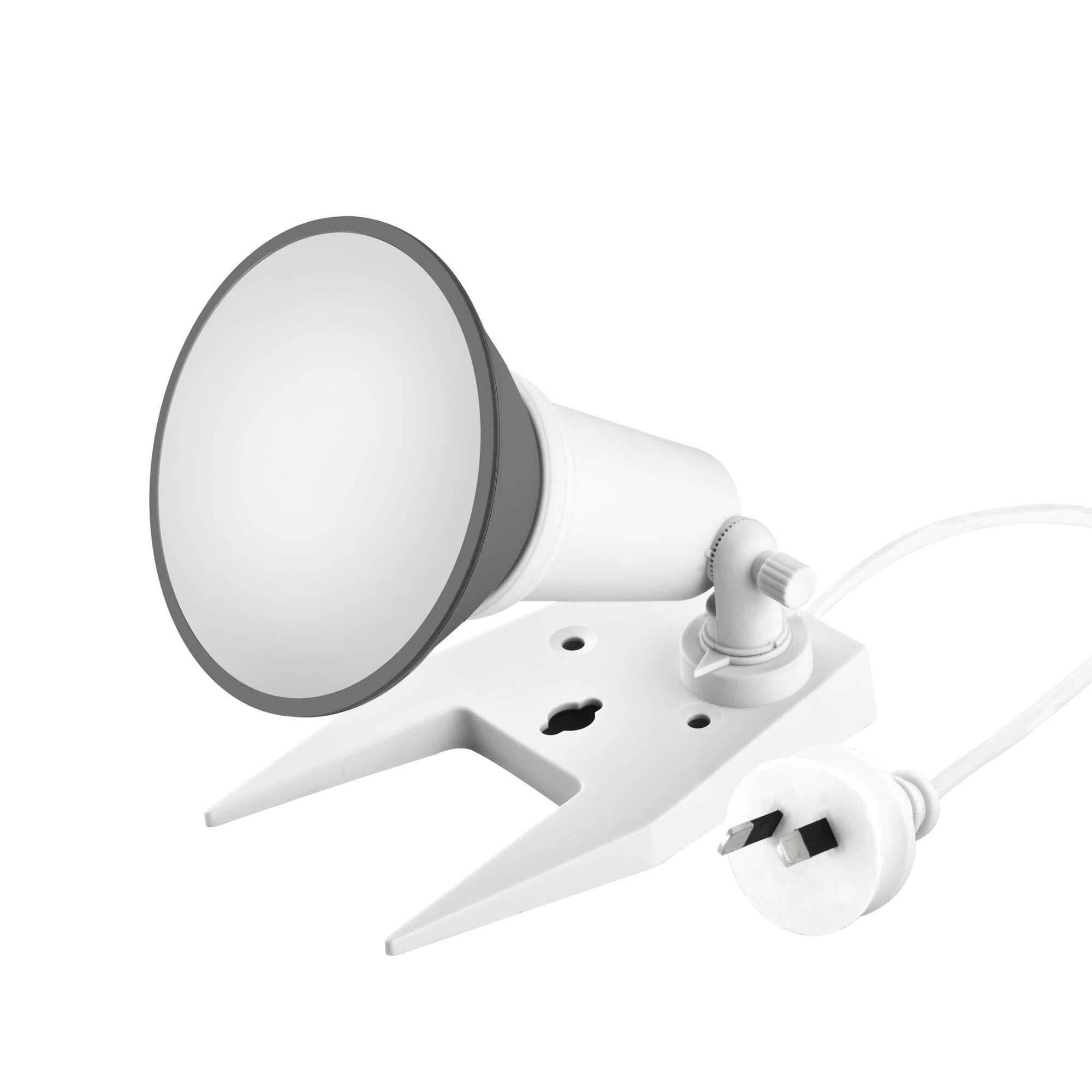 White portable floodlight with 10w led par38 globe