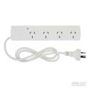 Surge protected 4 outlet power board