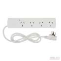 4 outlet surge protected power board