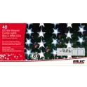 40 star curtain light blue & white led. 8 function