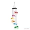 Dragonflies led solar garden pendant light
