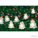 10 white led hologram christmas tree string lights