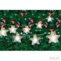10 warm white led hologram star string lights