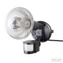 Diy security sensor floodlight with globe