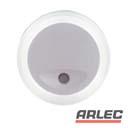 240v white o shaped auto sensor led night light