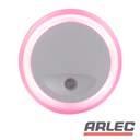 240v pink o shaped auto sensor led night light