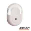 240v white n shaped auto sensor led night light