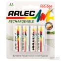 Rechargeable nimh batteries 4 x aa