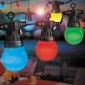 10 multi coloured led party light set:low voltage