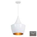 Saja pendant white/gold 22cm e27 60w